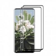 Set 2 folii protectie sticla securizata fullsize pentru OnePlus 7 Pro negru