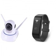 Wifi Camera & F1 fitness band Dual Antenna 720P Wifi IP P2P Wireless Wifi Camera CCTV Night Vision Outdoor Waterproof security Network Monitor||So Best and Quality Compatible with all smartphones BIL_204