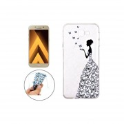 Para Samsung Galaxy A7 (2017) / S5 Butterfly Girl Patron Tpu Suave Y Protectora De La Cubierta Del Caso