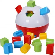 CifToys Educational Shape Sorter Ball Kids Toys | Develop Fine Motor Skills, Have Fun, Learn About Shapes & Colors (Red-White)