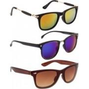 NuVew Clubmaster, Wayfarer Sunglasses(Blue, Brown, Golden, Green, Orange)