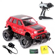 MousePotato 1:18 Scale Off Road Mud Design Cross Country 2.4 GHz Remote Control Racing Car (RED)