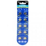 Raymax Batteries Batterie a bottone Alcalina LR43 LR1142 386 AG12 (set 10 pz)