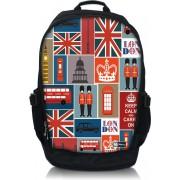 "Sleevy 17,3"" laptop rugzak Londen patroon"