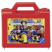 Puzzle in cutie Pompierul Sam, 6 piese