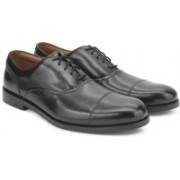 Clarks COLING BOSS BLACK LEATHER Lace Up For Men(Black)