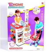 Детски супермаркет с количка за пазар и аксесоари