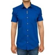 Royal Attire Men Solid Casual Mandarin Shirt