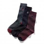 Timberland 3 Paires De Chaussettes En Piqué Pour Homme En Rouge Rouge, Taille L