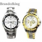 Stylevilla special Offer combo Rosara watches for Men (Golden +silver ) by 7star