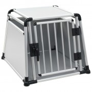vidaXL Dog Transport Box Aluminium L