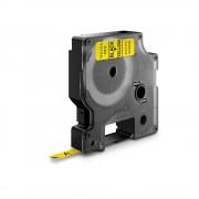 Etichete autocolante DYMO LabelManager D1 6mm x 7m negru galben 43618 S0720790