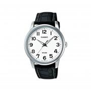 Reloj Casio MTP-1303L-7B 100% Cuero-Plateado