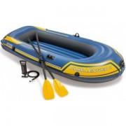 Intex Challenger 2 személyes felfújható gumi csónak, evezőlapáttal és pumpával 68367