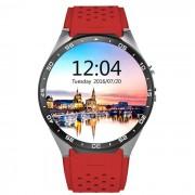 KW88 Android 5.1 OS 3G del telefono inteligente reloj w / 512 MB de RAM ? 4 GB de ROM - rojo