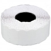 Etichete de pret, 26 x 12 mm, adeziv permanent, 1000buc/rola, 6 role/set, TANEX - albe