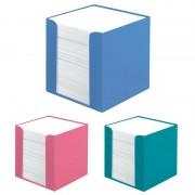 Cub hartie alba 700 file cu suport plastic, Herlitz Cool Color roz