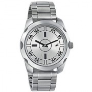 Fastrack Casual Analog Silver Dial Mens Watch - 3123SM02