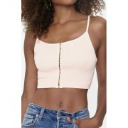 Forever21 Ribbed Hook-and-Eye Cami PEACH