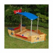 KidKraft Pirate 199.39cm Novelty Sandbox with Cover KidKraft - Size: Large