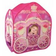Cort de Joaca pentru Copii tip Caleasca cu Printese Exterior sau Interior Culoare Roz