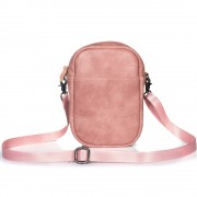 Women's Crossbody Bag Satchel Shoulder Bag Handbag Mini Practical Fashionable Clutch Purse Pouch (Vertical Style) - Pink