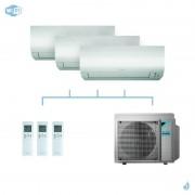 DAIKIN climatisation tri split mural gaz R32 Perfera CTXM-N FTXM-N 5,2kW WiFi CTXM15N + FTXM25N + FTXM35N + 3MXM52N A+++