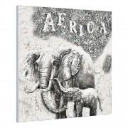 [art.work] Ručně malovaný obraz - slon 4 - plátno napnuté na rámu - 100x100x3,8 cm