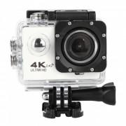 Camara deportiva 4K wi-fi 2.4G ultra HD impermeable con control remoto - blanco (enchufe de la UE)