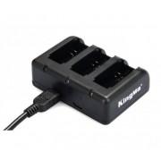 KingMa gopro hero 3/4 battery triple charger - Incarcator triplu gopro hero 3/4