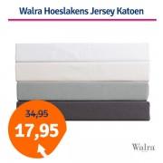 Walra Hoeslaken Jersey Katoen Off White-140/160x200/220