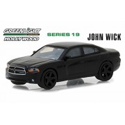 Greenlight 2011 Dodge Charger SXT, John Wick - 44790E 1/64 Scale Diecast Model Toy Car