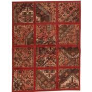 Handgeknüpft. Ursprung: Persia / Iran Patchwork Teppich 115x152 Perserteppich