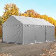 taltpartner.se Lagertält 4x6m PVC grå Förvaringstält, Förrådstält, Arbetstält
