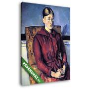 Paul Cézanne: Portré Cézanne asszonyságról az sárga fotelban (20x25 cm, Vászonkép )
