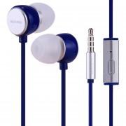 Alexpro E110i 1.2m En La Oreja Los Auriculares Con Microfono Control De Bass Stereo Con Cable Para IPhone, IPad, Galaxy, Huawei, Xiaomi, LG, HTC Y Otros Smartphones (azul)
