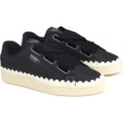Puma Basket Heart Scallop Wn's Sneakers For Women(Black)
