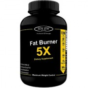 Sinew Nutrition Natural Fat Burner 5X (Green Tea L-Carnitine CLA Green Coffee Garcinia Cambogia Extract) 60 Veg caps