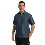 Chef Works Urban Chef Works Unisex Detroit Denim Short Sleeve Shirt Blue S Size: S