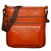 Style98 100% Pure Leather Handmade Stitched Unisex Messenger Bag for Men,Women,Boys & Girls