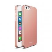 Husa Protectie Spate Ringke Slim Rose Gold pentru iPhone 5/5s/SE cu folie protectie display bonus