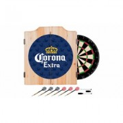 Beer Brand Wood Dart Cabinet Set with Darts and Board Corona - Griffin