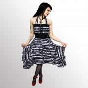 rochie femei POIZEN INDUSTRIES - Mort Mare - Negru / Gri