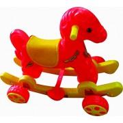 Babyjoys baby Horse Rider Red & Yellow