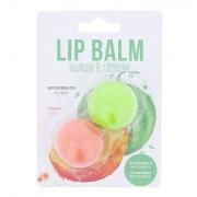 2K Lip Balm odstín Watermelon sada balzám na rty 2,8 g + balzám na rty 2,8 g Peach pro ženy