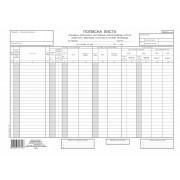 Popisna lista sirovina, materijala, sitnog inventara A3 NCR