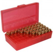 Mtm Pistol Ammo Box - Ammo Boxes Pistol Red 38-357 50
