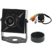 NTR CAM06 CMOS mini fémházas kamera MIC, 380TVL, 9V DC, 1xRCA video, 1xRCA audio