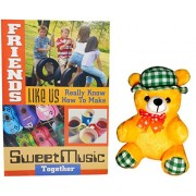 gifts for friend - Yellow Teddy Bear With Hat ,Great Friends Greeting Card