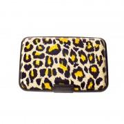 V&V Pouzdro na doklady a peněženka Aluma Wallet (žlutý leopard)